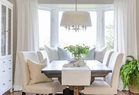 farmhouse dining room set. A Bright And Inviting Dining Room Boasts Simple Farmhouse Style With DIY Table Set B