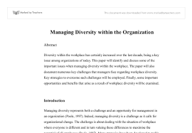 managing diversity in the organization university business document image preview