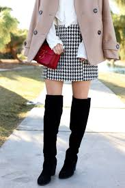 simply sutter houndstooth skirt peacoat winter style holiday look8679