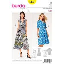 Dress Patterns Interesting Misses VNeck Dress Burda Sewing Pattern 48 Sew Essential