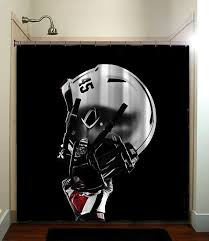 ohio state buckeyes college football helmet shower curtain