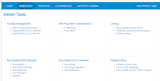 Apa Setup Admin Tools Apa Psycnet Help