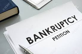 Petition Office Bankruptcy Petition And Pen In An Office