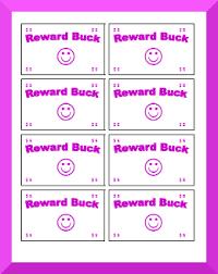 Printable Behavior Bucks Reward Bucks