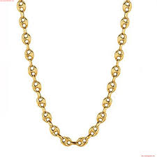 14k yellow gold puffed mariner link chain necklace 4 7mm nsjgdbya