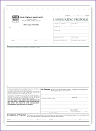 landscape proposal template word project estimate with alternating rows proposal template cost