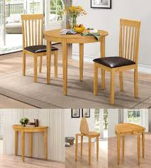 Rubberwood Kitchen Table Hgg Dining Table Set With 2 Chairs Rubberwood Furniture Small