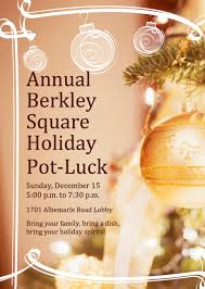 residents 1701 albemarle road 2013 holiday party flyer