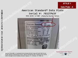 american standard furnace model numbers.  Standard Work Day Of The Week Manufacture U2013 5th Numerical Digit And American Standard Furnace Model Numbers M