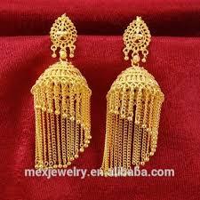 jhumkas indian jhumki dangle gold earrings nepal tribal thailand silver jewelry