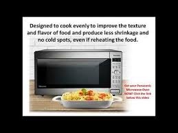 panasonic 1300 watt black countertop microwave oven with inverter technology