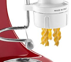 kitchenaid pasta press. built-in wire cutter kitchenaid pasta press