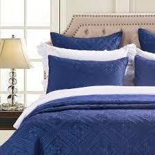 navy pillow shams. Interesting Navy Fern Crystal Luxury Navy Blue Pillow Sham  Calla Angel 1 To Shams