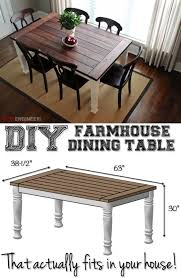 diy farmhouse dining room table. Perfectly Sized Rustic DIY Farmhouse Tables Diy Dining Room Table
