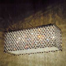 2019 chrome crystal chandelier within brizzo lighting s 27 rainbow modern rectangular crystal