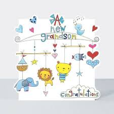 New Grandson Cards A New Grandson Congratulations New Baby Grandson Card New Baby Card Birth Congratulations Card