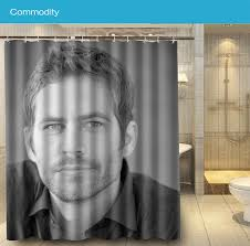 cool fabric shower curtains. Bathroom 032 Paul Walker Handsome Movie Star Cool Shower Curtain 180x160cm Waterproof Fabric For Curtains Y