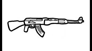 Come Disegnare Un Ak 47 Pistola Fucile Youtube
