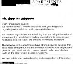 complaint letter to neighbor hilarious notes pleading with neighbours to keep it down