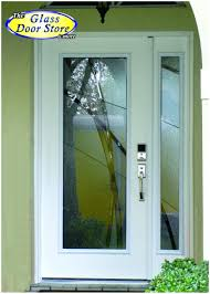 front door sidelight stained glass modern front door with glass insert and sidelight very private modern