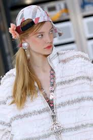 Chanel Hair Style chanel sends robots and side ponytails down the runway allure 4395 by stevesalt.us