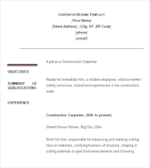Carpenter Resume Adorable Finish Carpenter Resume Carpentry Sample Mmventuresco