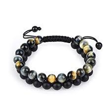 HASKARE Tiger Eye Bracelet Mens Womens Natural ... - Amazon.com