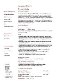 skills and competencies resumes social media resume coordinator specialist example sample pr