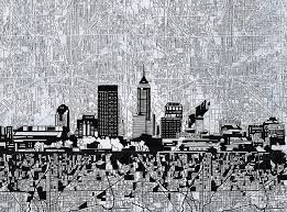 indianapolis painting indianapolis skyline abstract 9 by bekim art