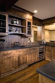 diy rustic kitchen cabinets cabin in the wood paneled kitchen