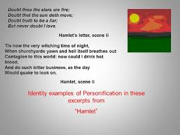 why is this an example of personification ppt identity examples of personification in these excerpts from