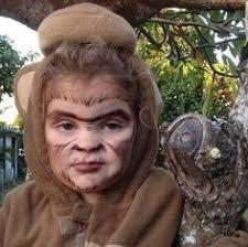 monkey face paint
