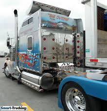 kenworth w900 custom sleeper berth truck with mural