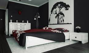 Modern Black And White Bedroom Tranquil Black And White Bedroom For Men With Wall Arts Also White