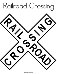 Making your child love coloring shall never be start off by saying that there are high speed rail services found in this category of trains and that they. Railroad Crossing Coloring Page Twisty Noodle