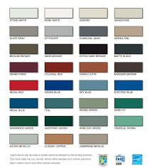 Metal Sales Color Chart Color Chart Related Metals