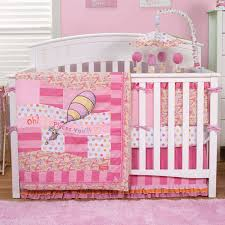 trend lab dr seuss oh the places you ll go 4 piece crib bedding set in pink free