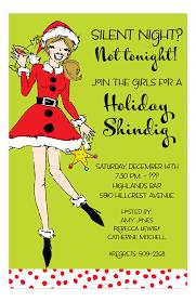 Santa Sister Holiday Party Invitations Polka Dot Design