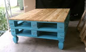 image of small pallet coffee table