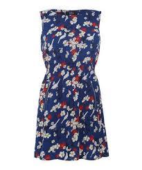 Iska London Size Chart Blue Floral Print Zip Detail Mini Dress Sale Iska Sale