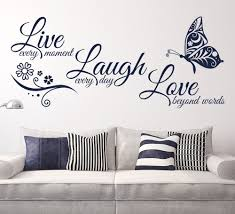 >live laugh love butterfly flower wall art sticker modern wall decals  live laugh love butterfly flower wall art sticker modern wall decals quotes vinyls stickers wall stickers home decor living room in wall stickers from home