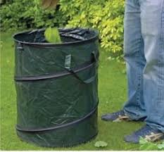 garden bag. HEAVY DUTY LARGE POP UP GARDEN BAG WASTE WEEDS LEAVES BIN CUTTING SACK CARRY Garden Bag
