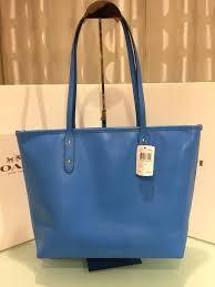 Coach Tote in Azure Blue. 1234567