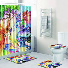 1 set traditional bath rugs 100g m2 polyester knit stretch creative rectangle bathroom easy to clean 6967230 2019 38 49