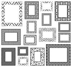 black white frames wall decals contemporary wall decals by wallpops
