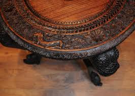 interesting carved wood round coffee table for your living room design interesting fl carved wood