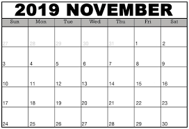 November November Calendar November 2019 Calendar With Notes Holidays Set Your Plan
