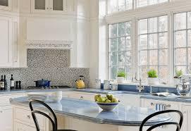 Modern Farmhouse Inspired Kitchen  Corner Sink Sinks And CeilingsBacksplas