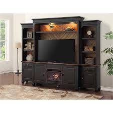 antique black 4 piece fireplace entertainment center brighton hickory