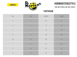 Dr Martens Size Chart Cm 31 Exhaustive Dr Martens Size Guide